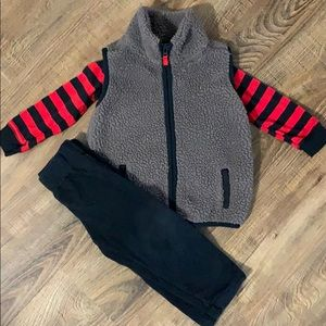 Carter's Sherpa Vest Outfit